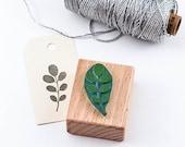 Rubber Stamp Robinia, leaf stamp, botanical stamp, gardeners stamp, plant stamp, Leaf rubber stamp, Garden Favor Stamp, Garden Journal Stamp