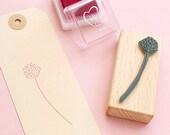 Stamp Blossom, Floral Rubber Stamp, Spring Stamp, Flower Stamp, Botanical Stamp, Ecofriendly, Stamp Gift Tags, Wooden Stamp, Gift gardener