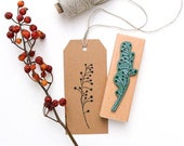Rubber Stamp HAWTHORN, Botanical Stamp, Plant Stamp, twig with berries Stamp, Flower Stamp, garden stamp, wooden stamp, buju stamp, nature