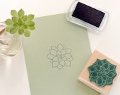 Succulent Stamp, Echeveria agavoides, floral rubber stamp, botanical stamp, plant stamp, bujo stamp, ecofriendly stamp, scrapbooking stamp