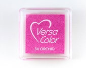 Ink Pad VersaColor Orchid No. 34 small, pink ink pad, Pigment Ink, pink, millenial pink, rubber stamping ink, Embossing Ink, Versa Color