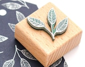 Mini Stamp BEECH LEAF, plant Stamp, leaf Stamp, tree Stamp, Stamp for Gift Tags, Wooden Stamp, Buju Stamp, Stamp Place Cards & Hang Tags