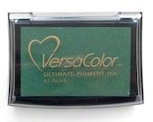 Ink Pad VersaColor Olive No 61, Versacolor Pigment Ink Pad, Pigment Stamp Ink, Rubber Stamp Pad, Archival Ink, large ink pad, Artist Ink Pad