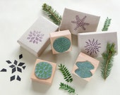 Rubber Stamp Set, Christmas Stamps, Christmas Stars, Christmas Stocking, Star Stamp, Floral Stamp, Geometric Stamp, Christmas Packaging