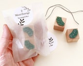 Mini Rubber Stamps, Branches, SET of 2 mini stamps, branch, stampf for gift tags, stamp set, mini branches, christmas, stamps bullet journal