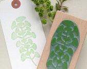 Stamp | Botanical stamp | trompete plant | Floral Stamp | Plant Stamp | Leaves Stamp | Hand Drawn Stamp | Ecofriendly Stamp | Pokeweeds