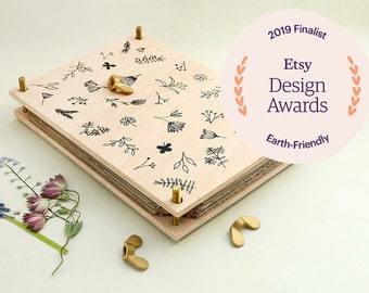 Flower Press, ETSY DESIGN AWARDS, Botanical press, Herbarium,Wooden Flower Press, Leaf Press, Gift for Gardener, Plant press,  presse fleur