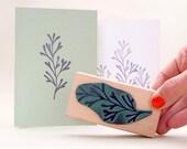 Floral Stamp, UNDERWATER PLANT #01, rubber stamp, botanical rubber stamp, plant stamp, maritime stamp, Sea, Algae, Seaweed, flower stamp