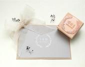 Wedding stamp, Floral Wreath Stamp, Custom Wedding