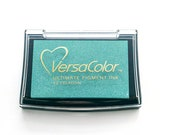 Ink pad Celadon VersaColor, Inkpad, turquois Ink Pad Large, Rubber Stamp Ink, Pigment Ink, Versa Color No. 60, turquoise, artist ink pad