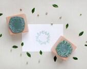 Botanical rubber stamp set: 2 floral wreaths