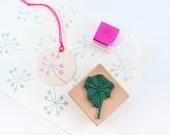 Rubber Stamp Umbellife, Dill Blossom, floral rubber stamp, botanical stamp, gardeners stamp, garden gift, buju stamp, flower lover gift