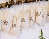 Christmas Calendar, Christmas bag, Advent calendar for kids & adults, Advent Calendar Bags, Christmas stocking, fabric, Christmas Countdown