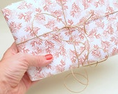 Gift Wrapping Paper | Conifer rose | ecofriendly | 3 sheets | Rose Wrapping Paper floral | Christmas Wrapping Paper | Flowered Gift Wrap