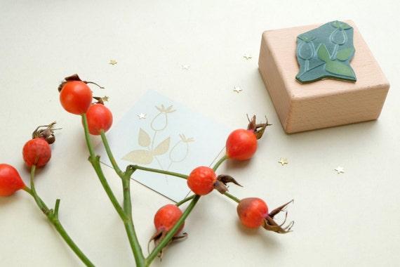 Tampon Fleur Rose Musquee Tampon En Bois Timbre De Noel Etsy