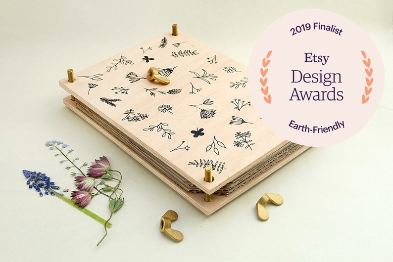 Flower Press ETSY DESIGN AWARDS Botanical press Herbarium image 0
