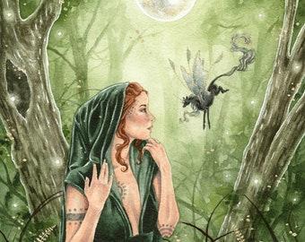 Rhiannon of Avalon \u2013 Art Print