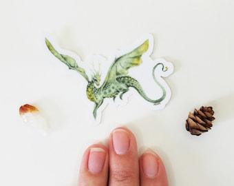 Dragon Art Sticker - Elle - fantasy art. cute. vinyl. fantastical. magical.