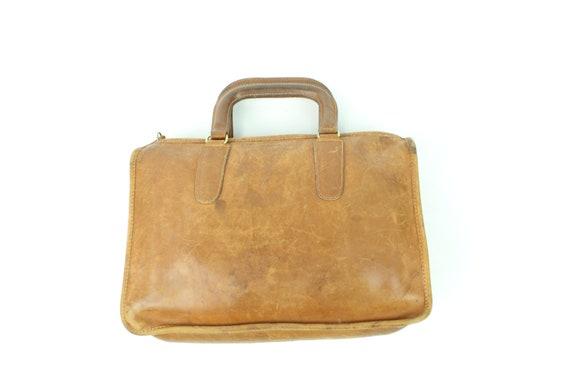 Vintage 70's COACH Leather Briefcase Purse 1970's