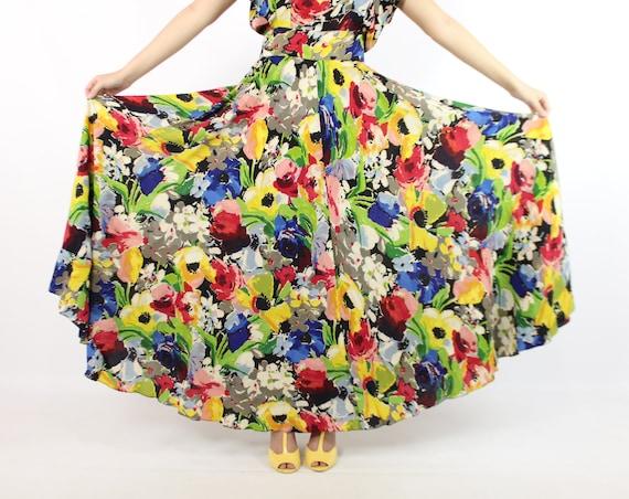 Vintage 40's Ceil Chapman Dress Earliest Label 19… - image 5