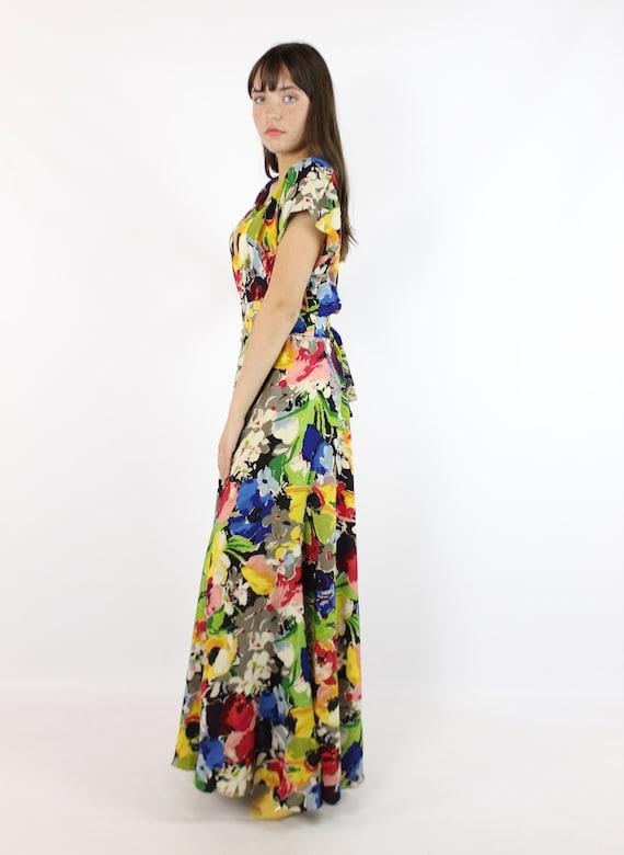 Vintage 40's Ceil Chapman Dress Earliest Label 19… - image 6