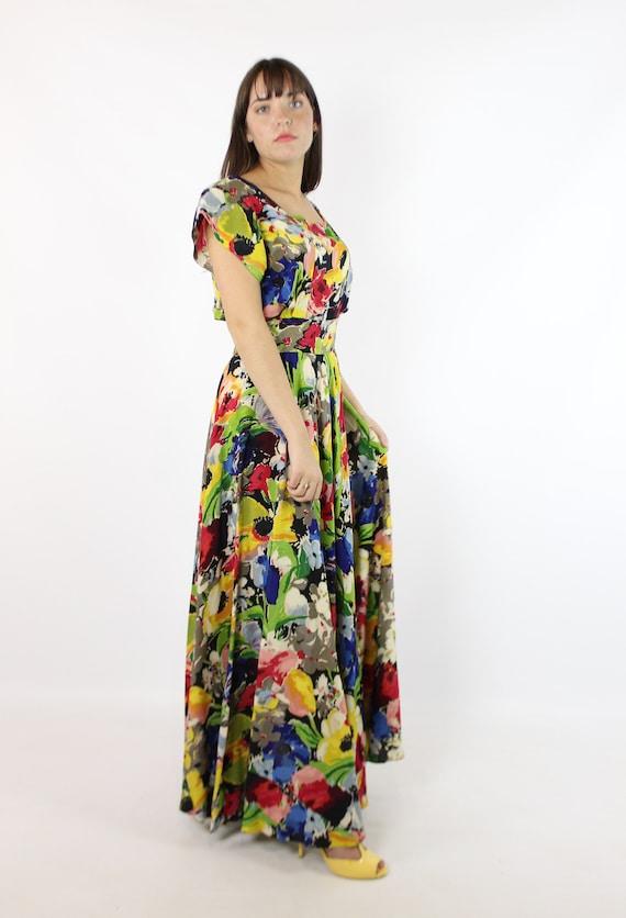 Vintage 40's Ceil Chapman Dress Earliest Label 19… - image 2