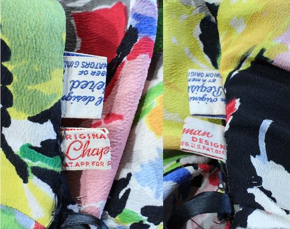 Vintage 40's Ceil Chapman Dress Earliest Label 19… - image 9