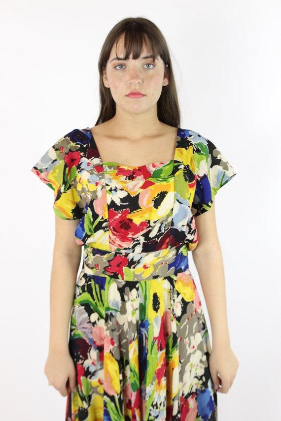 Vintage 40's Ceil Chapman Dress Earliest Label 19… - image 4