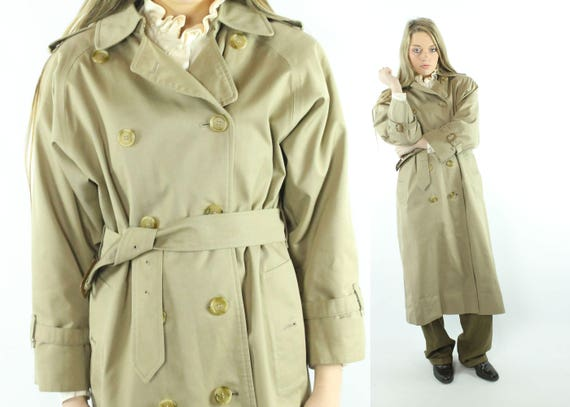 1990s BURBERRYS Trench Coat Double Breasted Pea Co