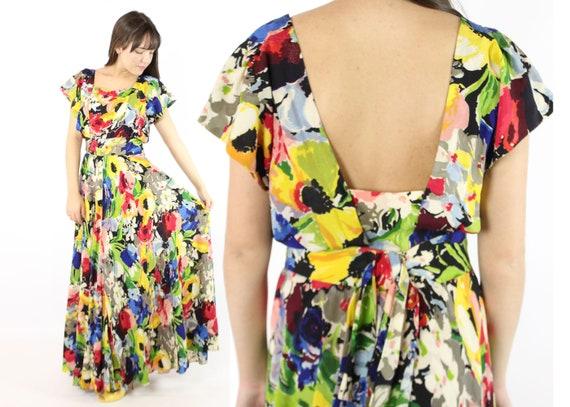 Vintage 40's Ceil Chapman Dress Earliest Label 19… - image 1