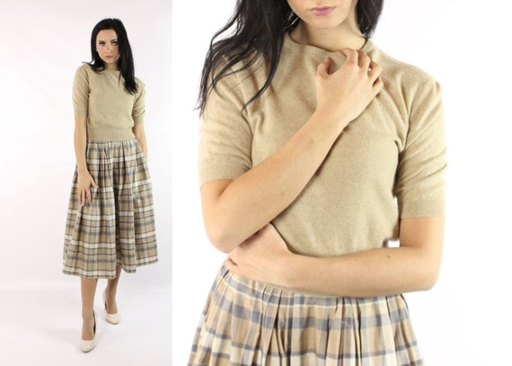 Vintage 50's Short Sleeve Cashmere Sweater 1950's