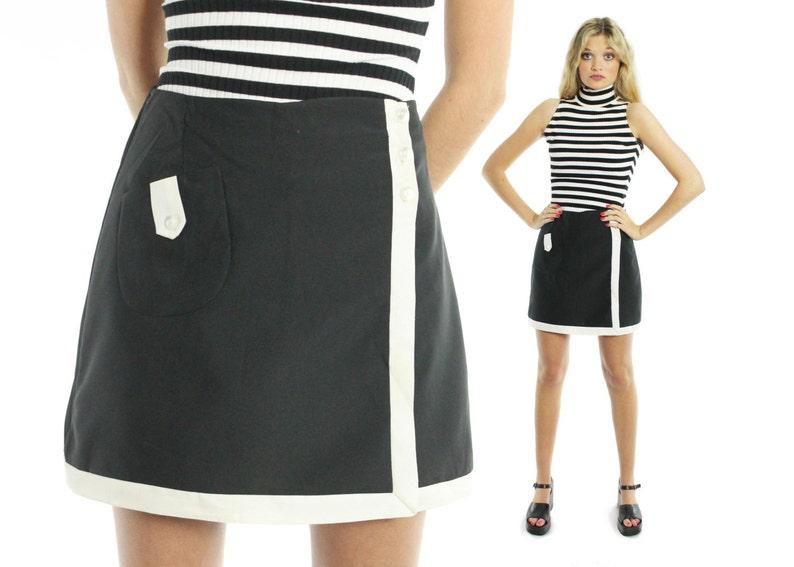 Vintage Short jupe Culotte short années 60 des Jupe noirEtsy Mini 45jARq3ScL