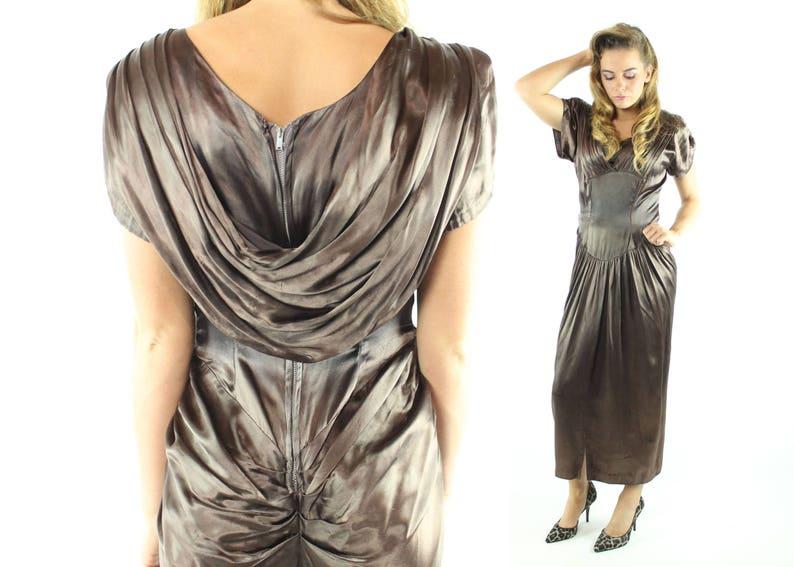 Vintage 50s Evening Dress Woman