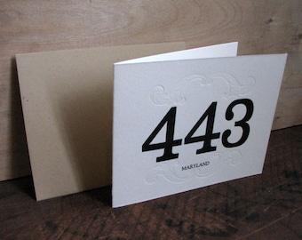 Area Code 443 Blank Greeting Card