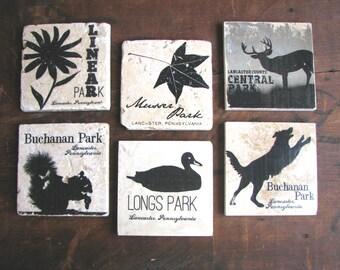 """Lancaster PA Parks Tile, 4""""x4"""" (Choose your style)"""