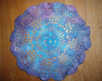 Up-Cycled/ Tie Dye/ Crochet/ Lace Doilie/ Table Furnishings