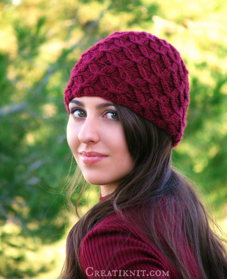 Knitting Pattern  Knit Hat Knitting pattern PDF  Beanie Hat image 0