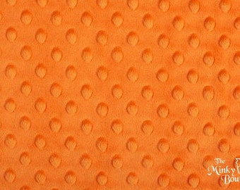 Minky Dot Fabric - Orange