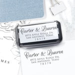Self Inking Return Address Stamp, Custom Stamp, Wedding address stamp, Calligraphy Stamp, Save the Date Stamp, Address Stamp - Lauren