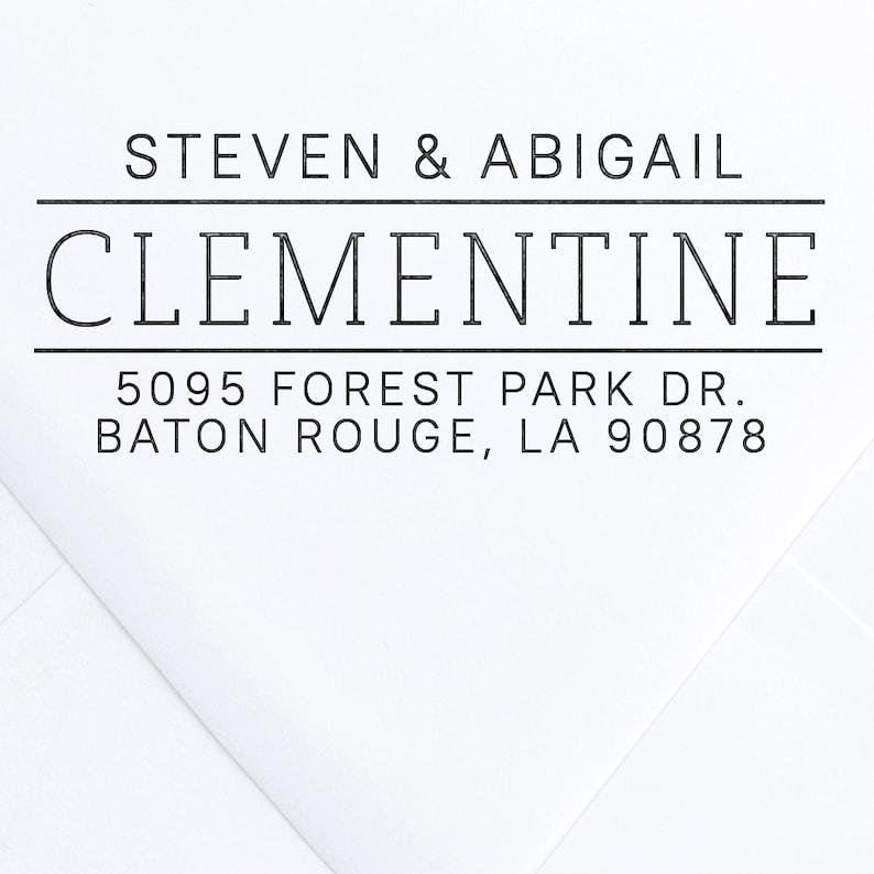 ModernAddress Stamp Custom Address Stamp Personalized Address Stamp Calligraphy Wedding Invitation DIY Clementine Self Inking Stamp