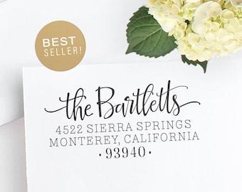 Custom Address Stamp | Self Inking or Wood Mount Custom Stamp | Wedding address stamp | Housewarming Personalized Stamp  | Stamper, Bartlett