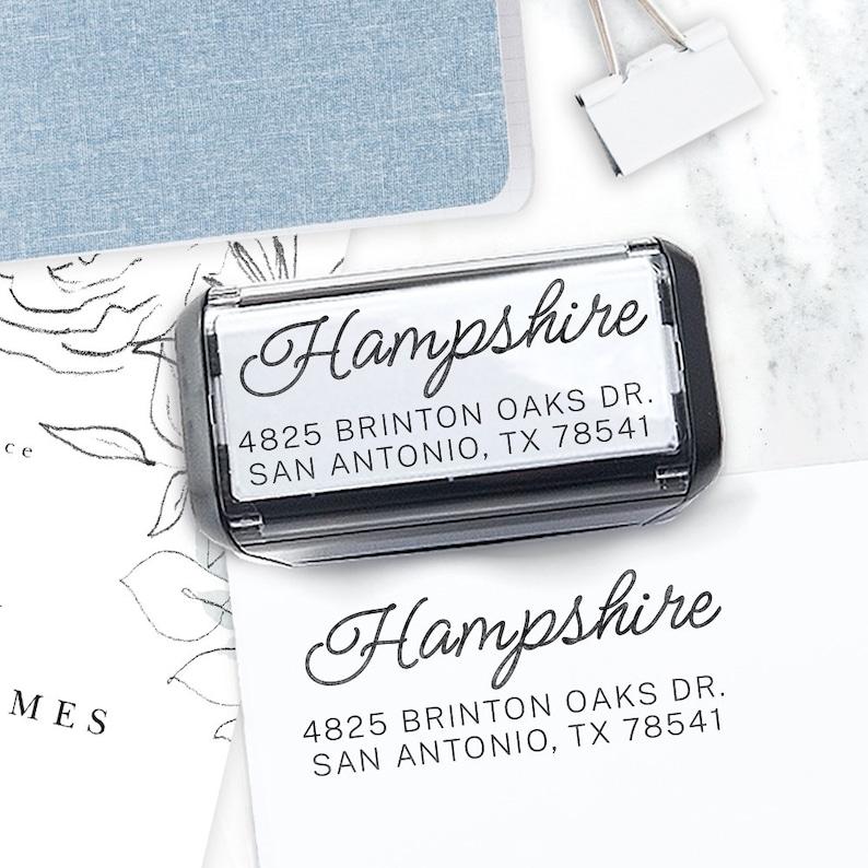 Custom Address Stamp Self Inking Return Address Stamp Rustic image 0
