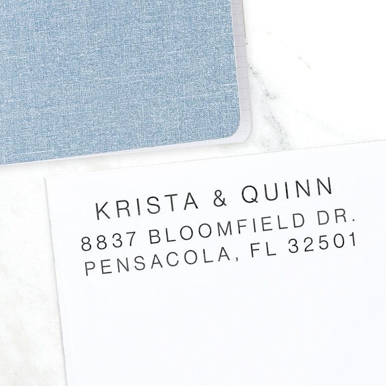 Custom Address Stamp Return Address Stamp Wedding address image 0