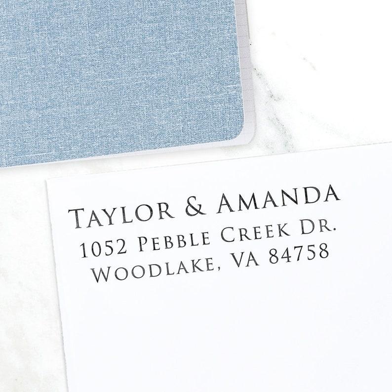 Address Stamp Return Address Stamp Wedding address stamp image 0