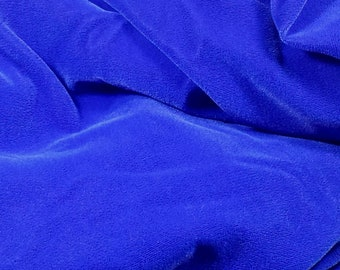 NEW Royal Blue Velvet Fabric, 2 yard 8 inch Long, 45 inch Wide, Non-Smoking Home