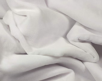 NEW White Velvet Fabric, 3 yard 7 inch Long, 45 inch Wide from Non-Smoking Home