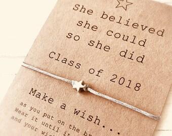 Graduation gift - wish bracelet -  high school college kindergarten - best friend bracelet - friendship jewelry dutchpearl
