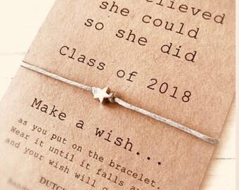 2f8732113 Graduation gift 2019 - wish bracelet - high school college kindergarten -  best friend bracelet - friendship jewelry dutchpearl