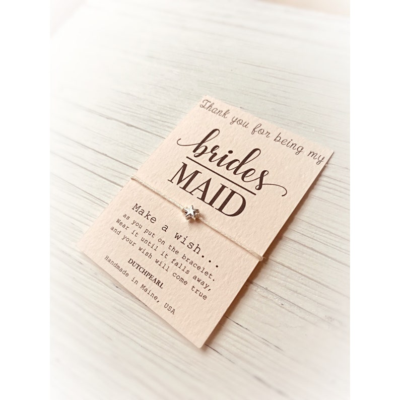 Thank you for being my bridesmaid  BLUSH card with a cute image 0