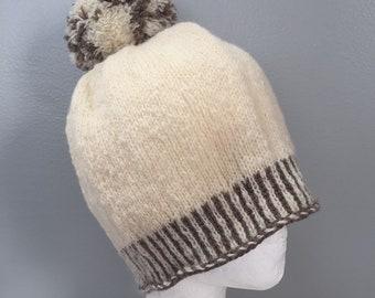 100/% natural Montadale and Romeldale CVM wool Ja-Makin-Ewe-Crazy hatbeanie handmade
